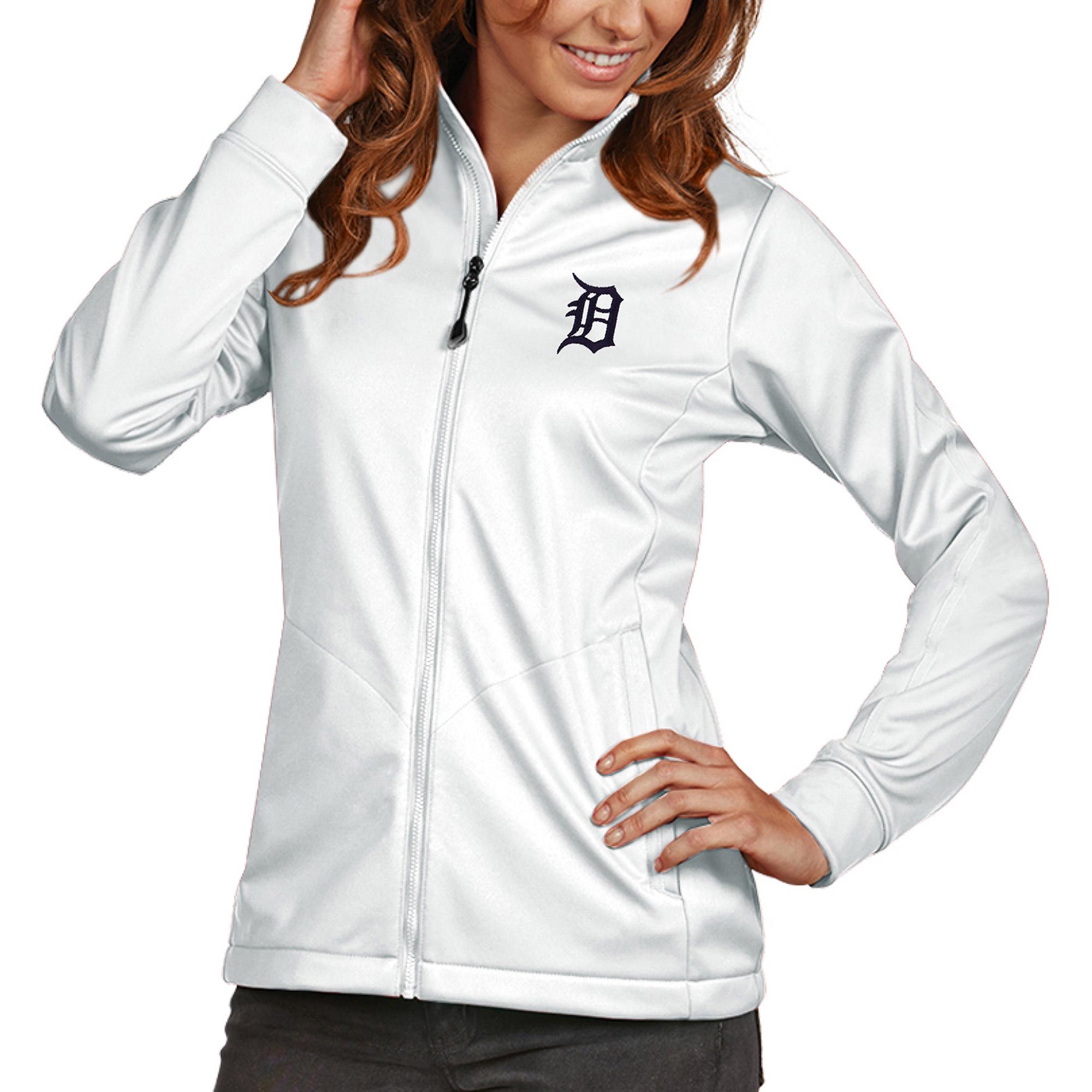Detroit Tigers Antigua Women's Golf Full-Zip Jacket - White
