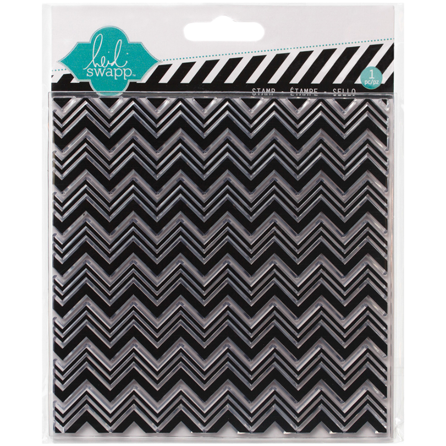 Heidi Swapp Mixed Media Clear Stamps 5.5 Inch X 5.5 Inch-Chevron