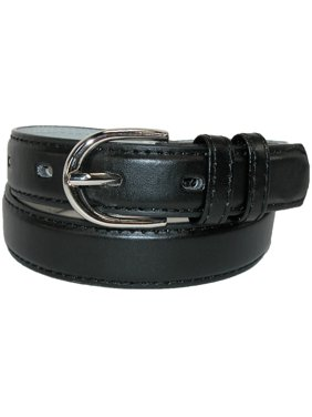 Kid's Leather 1 inch Basic Dress Belt (Pack of 2)