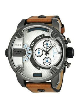 Diesel Men's SBA Dual Time Chronograph Gunmetal IP Stainless Steel Watch DZ7269