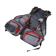 Adjustable Multi-Pocket Fly Fishing Mesh Vest Outdoor Sports Backpack Jacket
