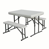 Deals on Stansport Folding Table With Bench Seats