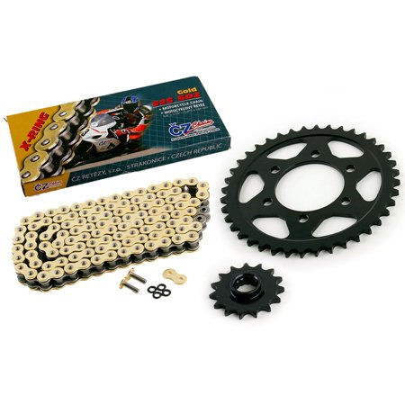 01 Kawasaki Ninja 600 ZX-6R ZX600 CZ SDZ Gold X Ring Chain & Sprocket 15/40 110L - The Gold Ninja
