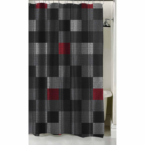 "Latitude Geo Blocks Shower Curtain, 70"" x 72"""