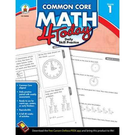 Common Core Kindergarten (Common Core Math 4 Today, Grade 1 : Daily Skill)