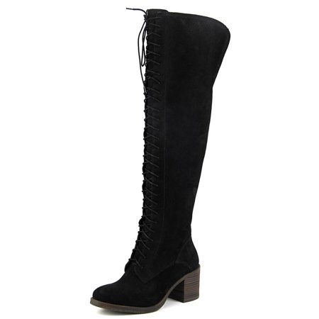 725309ff873 Lucky Brand - Lucky Brand Riddick Women Round Toe Leather Over the Knee Boot  - Walmart.com