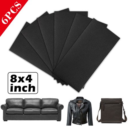 6pack Leather Repair Patch 4x8 Inch Self Adhesive Couch