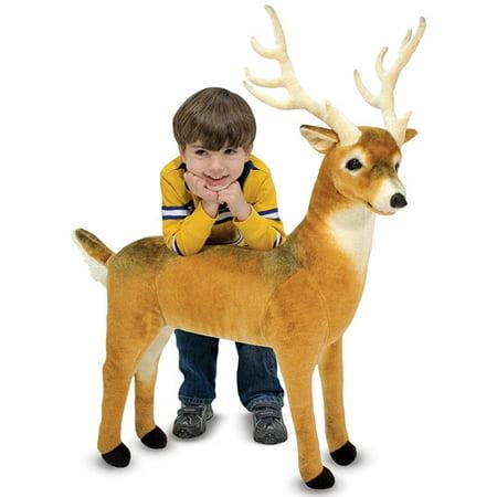 Melissa & Doug Giant Deer - Lifelike Stuffed Animal (over 3 feet long)
