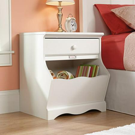 sauder pogo night stand in soft white. Black Bedroom Furniture Sets. Home Design Ideas