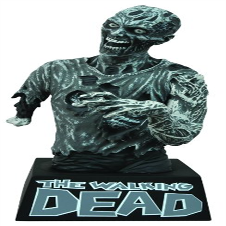 Diamond Select Toys The Walking Dead: Black and White Zombie Bust Bank