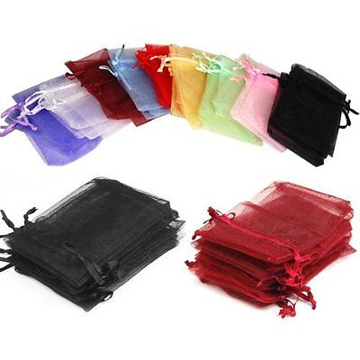 Craft And Party 6 X9 Sheer Drawstring Organza Jewelry Pouches Wedding Christmas Favor Gift Bags