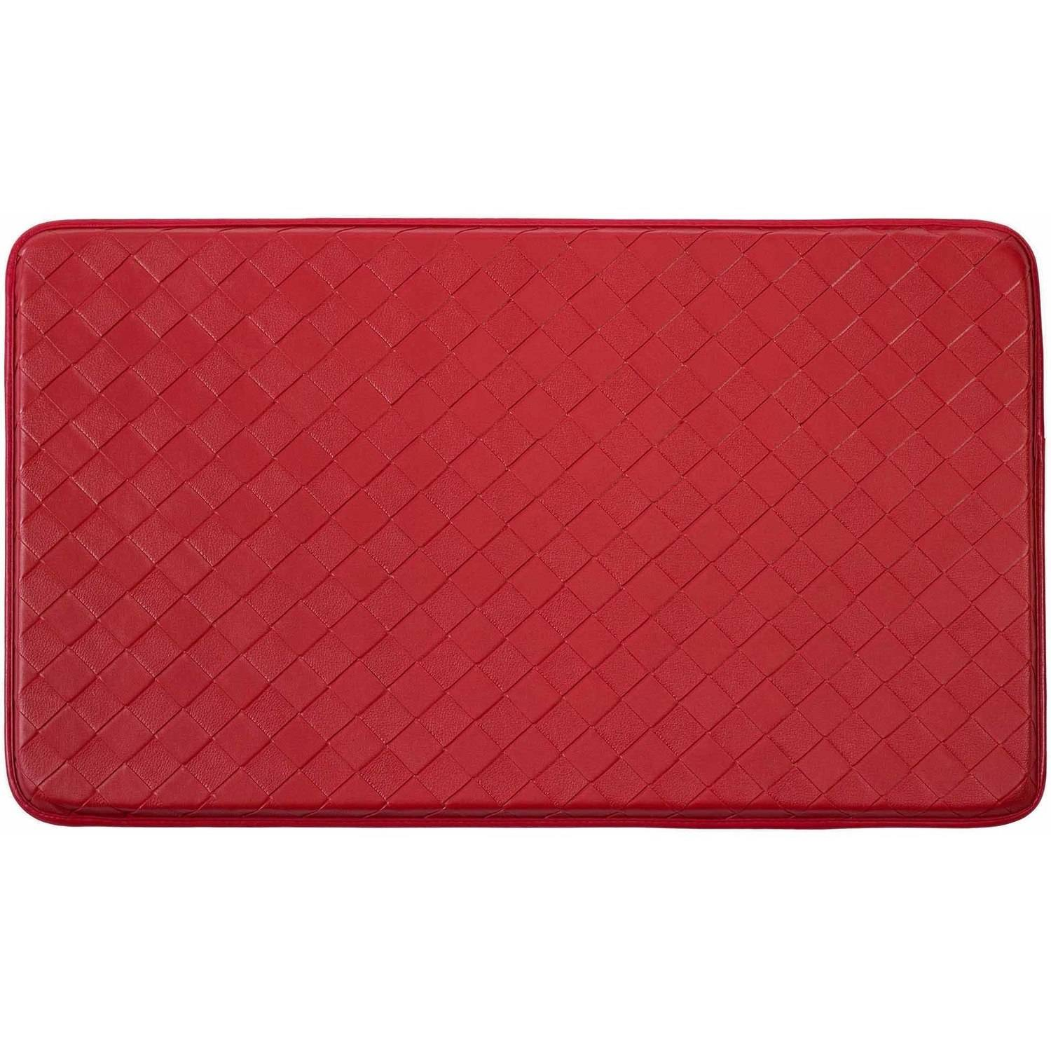 Chef Gear Faux-Leather Diamond Weave 24 x 36 in. Comfort Chef Mat