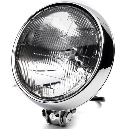 "6"" Chrome Motorcycle Headlight Bottom Mount Running Light Thin High / Low Beam - image 8 de 8"