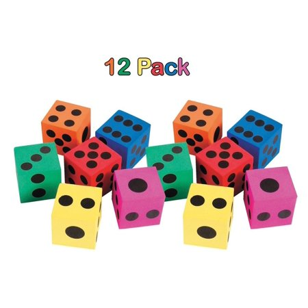 Big Foam Dices - Pack Of 12 - 1.5