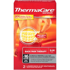 b12dbf0668 ThermaCare Advanced Back Pain Therapy (2 Count, S-M Size) Heatwraps, Up to  16 Hours Pain Relief, Lower Back, Hip Use, Temporary Relief of Muscular, ...