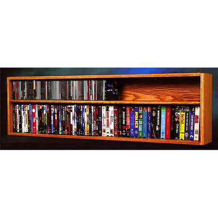 Wall Mount Cd Shelves Honey Oak