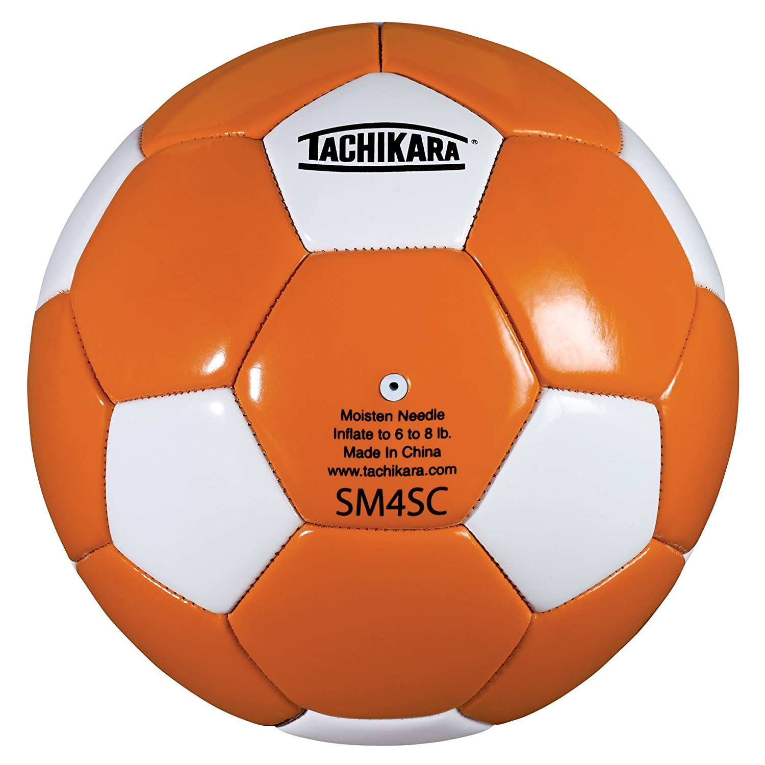 SM4SC dual colored soft PU soccer ball, size 4 (orange/white)., This ball is sold and shipped deflated. By Tachikara