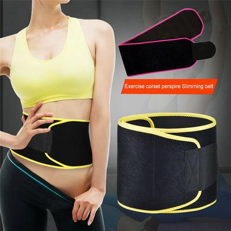 Sekda Sweet Belt For Men & Women with Sauna Effect - Waist Trainer Corset For Weight Loss Wrap (Yellow Corset)
