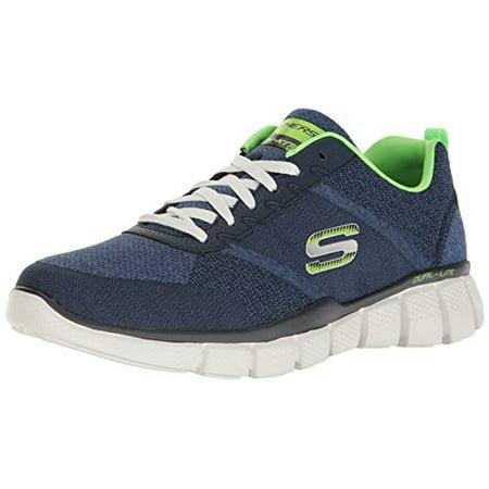 Skechers Sport Men's Equalizer 2.0 True Balance Sneaker,Navy/Lime,7.5 4E