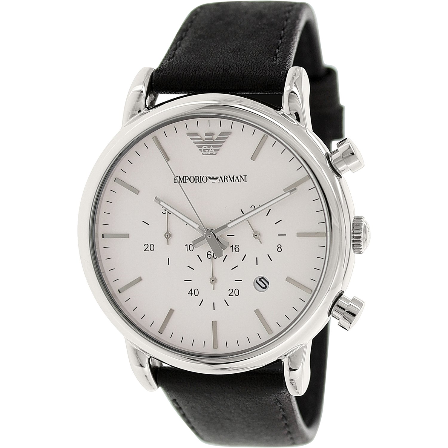 Emporio Armani Men S Classic Ar1807 Black Leather Japanese Quartz Dress Watch