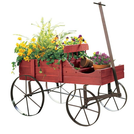 Indoor Outdoor Gardener Amish wagon decorative indoor outdoor garden backyard planter red amish wagon decorative indoor outdoor garden backyard planter red workwithnaturefo