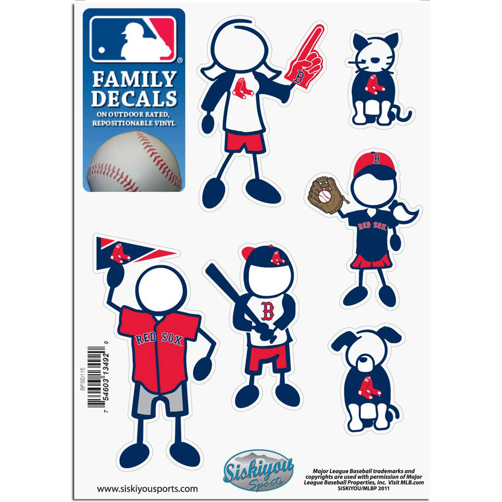 Boston Red Sox Official MLB Small Family Decal Set by Siskiyou 134920