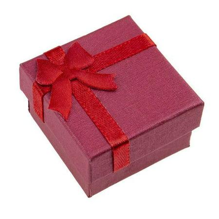 KABOER 5Pcs Bow Jewelry Box for Ring Anniversary Wedding Birthday 5Pcs Small ring box small jewelry gift box bow jewelry box jewelry box