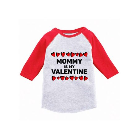 Awkward Styles Mommy Is My Valentine Toddler Raglan Boys Valentine Shirt Valentines Tshirt for Boys Valentine's Day Jersey Shirt Cute Gifts for Boys Mom Raglan Shirt for Toddler Boys Mama's - Valentine T Shirts For Toddlers