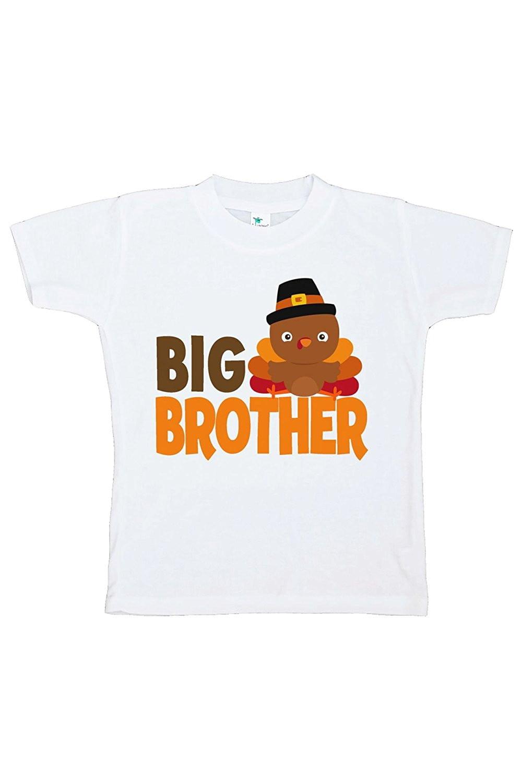 Custom Party Shop Baby Boy's Big Brother Thanksgiving Tshirt - Small (6-8) T-shirt