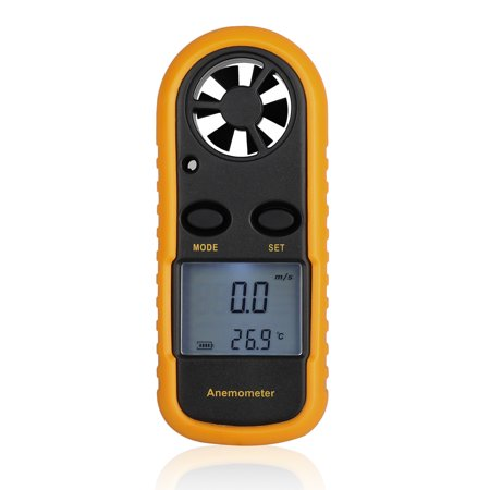 TSV Wind Speed Gauge Portable Handheld Anemometer LCD Digital Wind Speed Thermometer Air Flow Measure for Windsurfing Sailing Fishing Kiteflying Outdoor