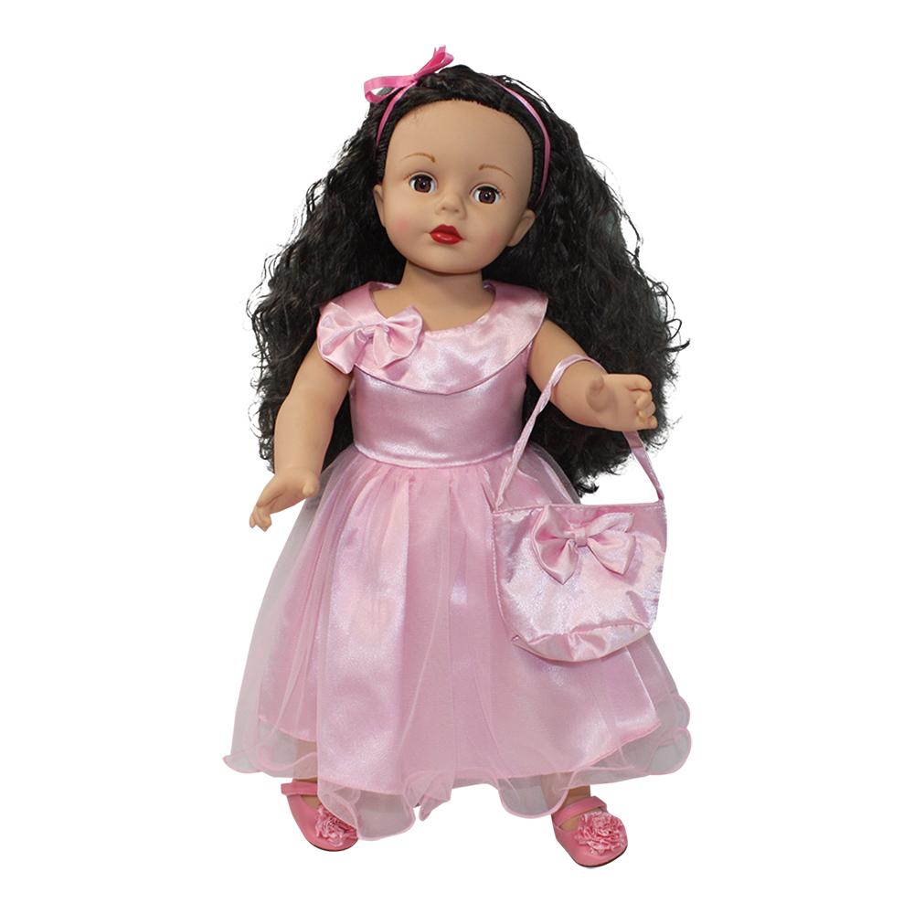 Arianna Pink Curtsy Dress & Handbag Fits 18 inch Dolls