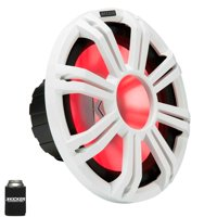 "Kicker KM122 12"" Marine Subwoofer with LED White Grill 2 Ohm for Sealed Applications"