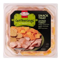 Hormel Gatherings Turkey and Cheese Snack Tray; 14 oz.; Smoked Turkey, Cheddar Cheese and Crackers
