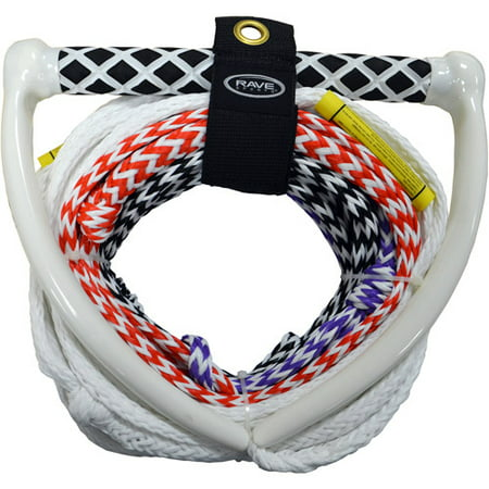 Rave Sport 70' 4 Section Pro Water Ski and Tow Rope, White ()