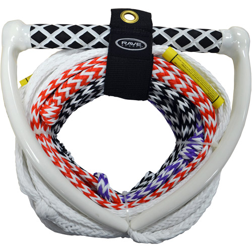 Rave Sport 70' 4 Section Pro Water Ski and Tow Rope, White