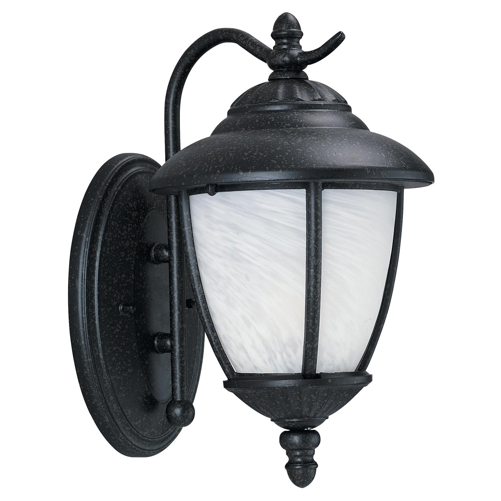Sea Gull Yorktowne Outdoor Wall Lantern - 13H in. Forged Iron