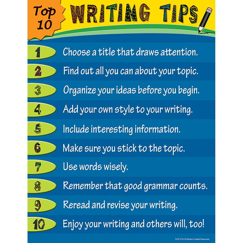 TOP 10 WRITING TIPS CHART - Walmart.com