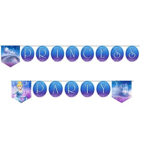 Cinderella 'Sparkle' Plastic Happy Birthday Banner (1ct)