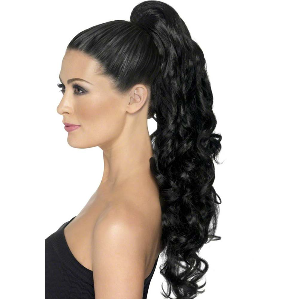 Divinity Curly Black Clip-On Ponytail