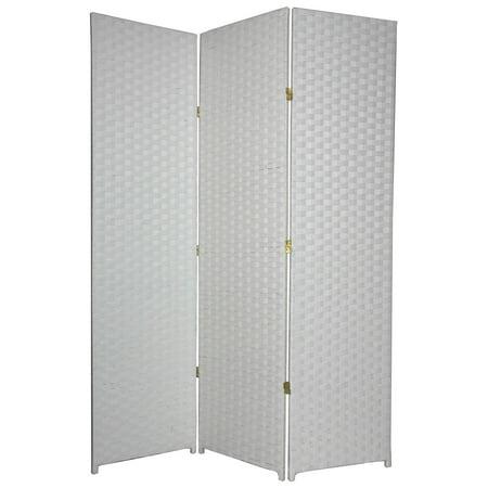 Oriental Furniture Woven Fiber White Room Divider