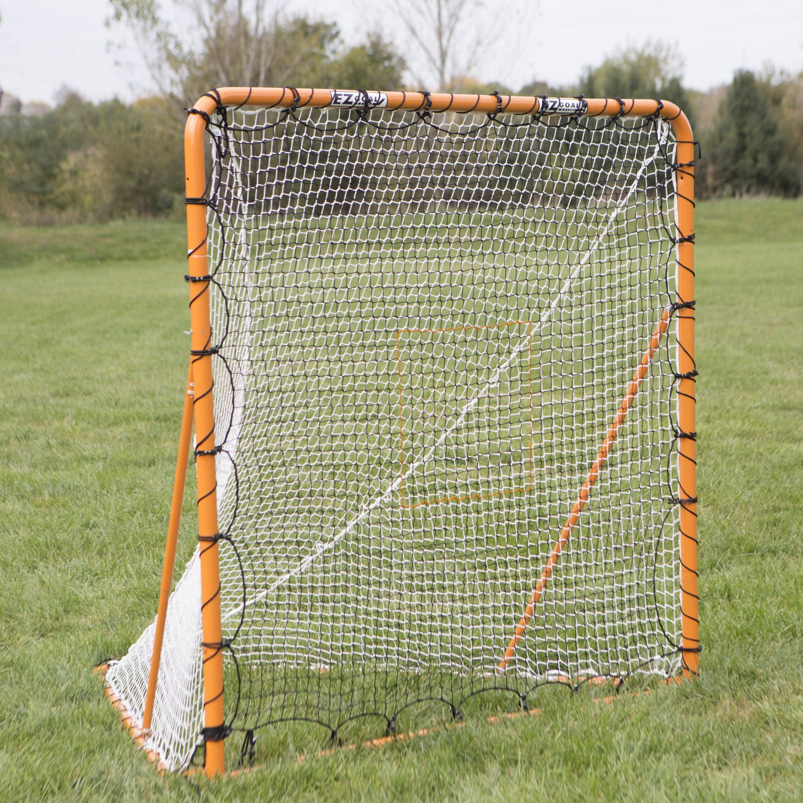 EZ Goal 6 x 6 ft. Folding Lacrosse Goal with Throwback