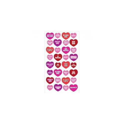 Heart Phrases Sticko Stickers