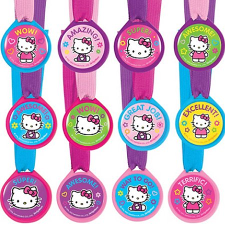 Hello Kitty 'Rainbow' Award Medals / Favors (12ct)](Hello Kitty Dessert Ideas)