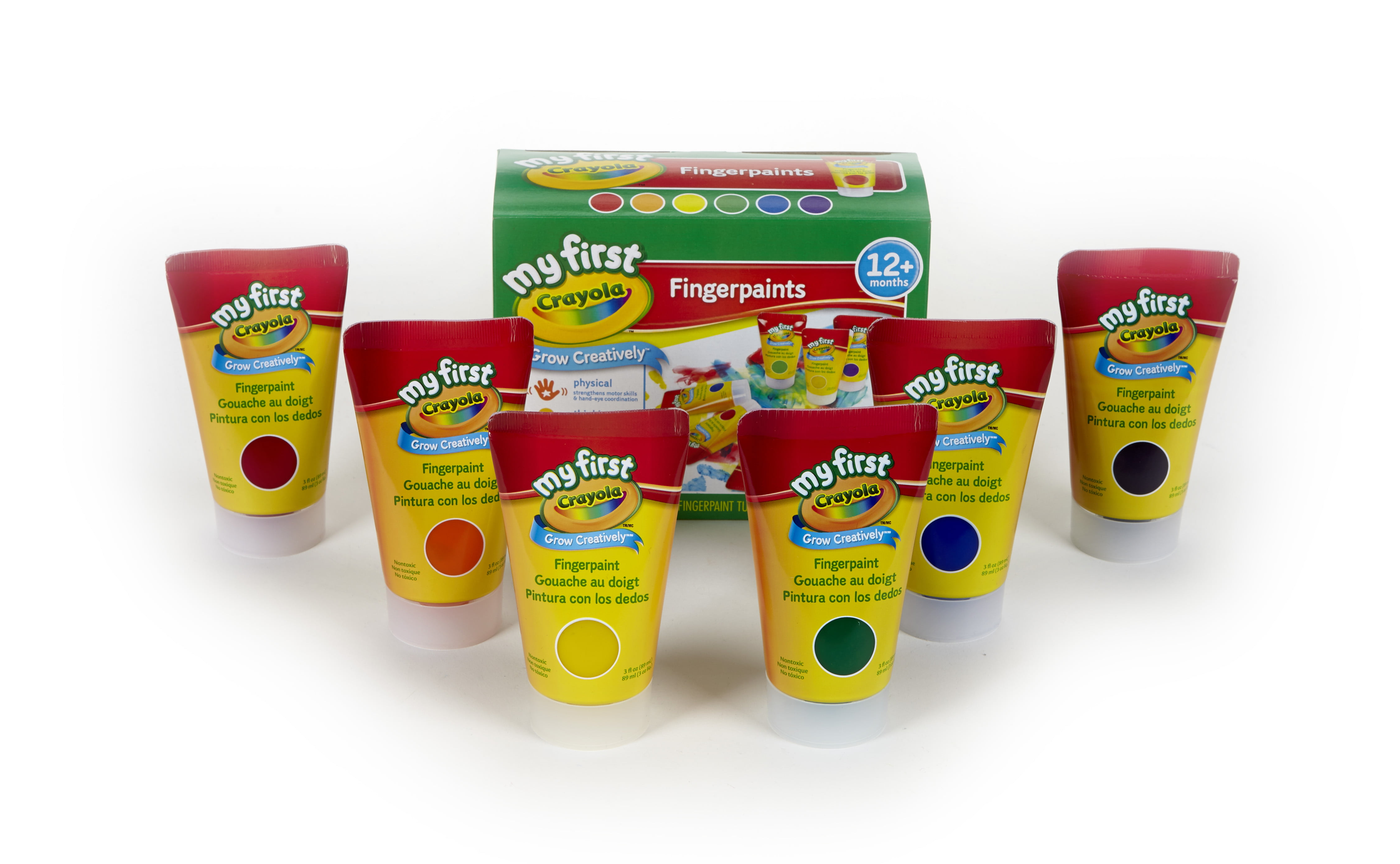 Crayola; My First Crayola; Fingerpaint Kit; Art Tools; 6 Different Colored Tubes of Paint;... by Crayola