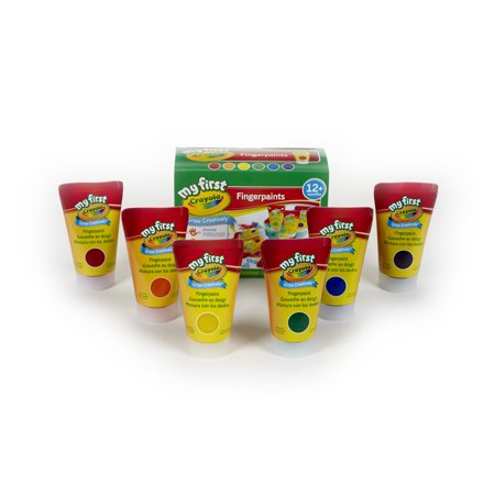 - Crayola My First Crayola Fingerpaint Kit, Art Tools, 6 Different Colored Tubes Of Paint, Washable