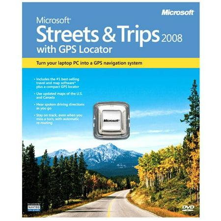 Microsoft Streets & Trips w/ GPS Locator 2008 Mini-Box