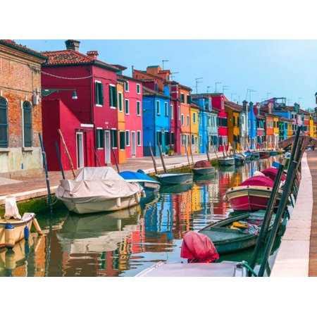 Multi Coloured Houses Next To A Canal Burano Italy Poster Print By Assaf Frank