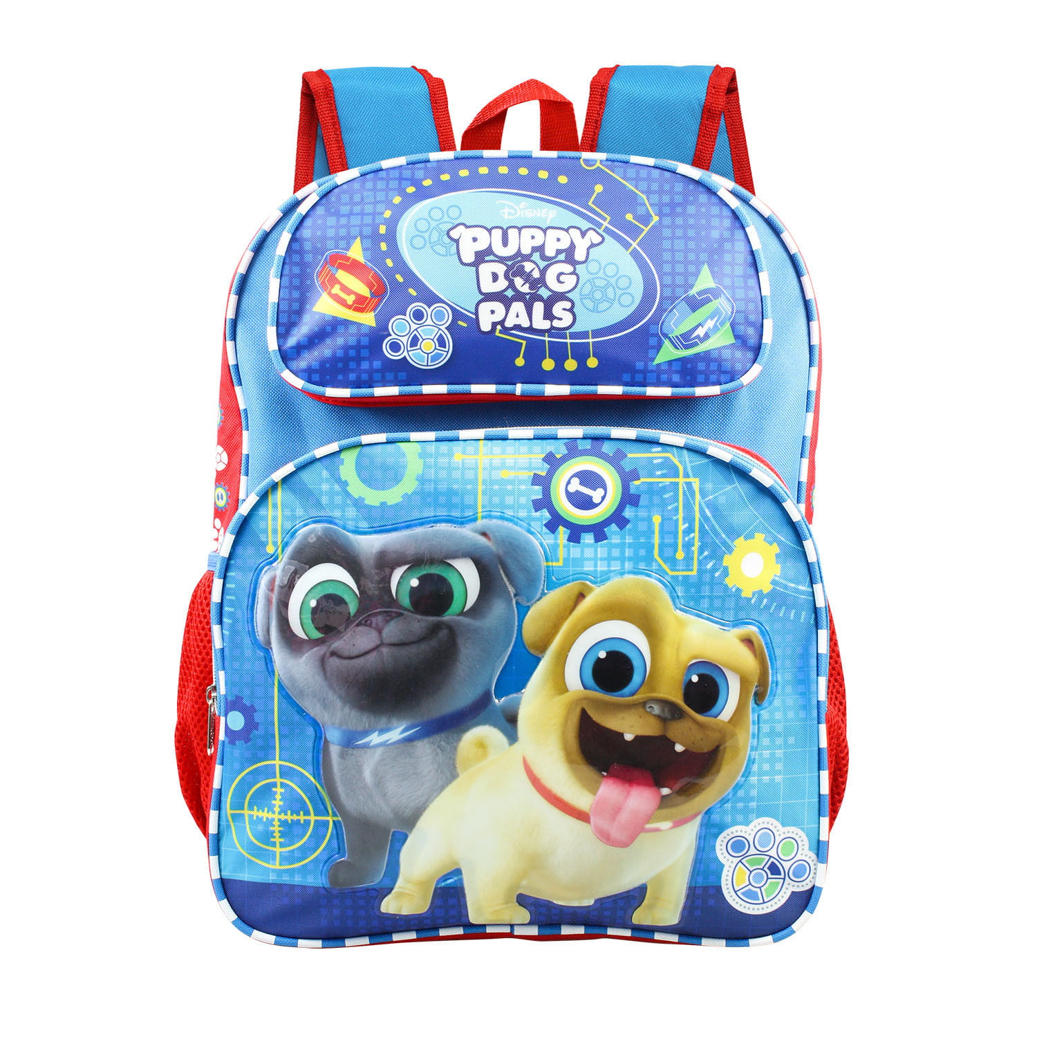 Disney Puppy Dog Pals BINGO All Over Print 16 Backpack with Drink Bottle