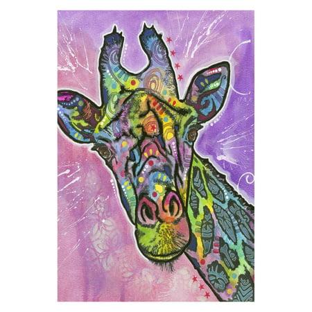 Toland Home Garden Neon Giraffe Flag ()
