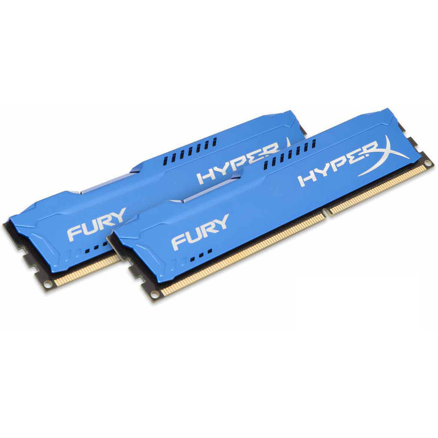 Kingston 8GB 1600MHz DDR3 Non-ECC CL10 DIMM (Kit of 2) HyperX FURY Blue Series Memory Module
